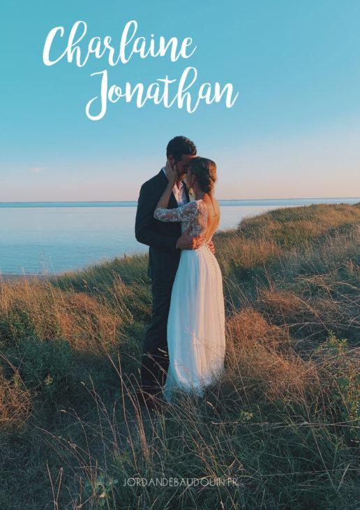 Photo couverture mariage jonathan et charlaine